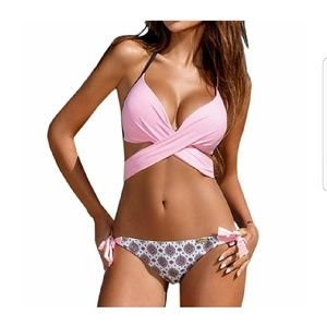 Other - Pink and Print Bikini